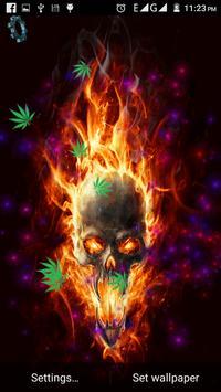 Skull Weed Live Wallpaper screenshot 3