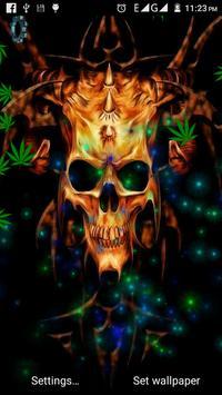 Skull Weed Live Wallpaper poster