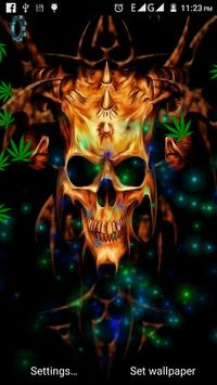 Skull Weed Live Wallpaper ポスター