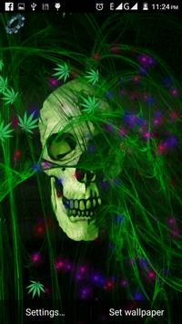Skull Weed Live Wallpaper screenshot 1