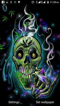 Skull Weed Live Wallpaper apk screenshot