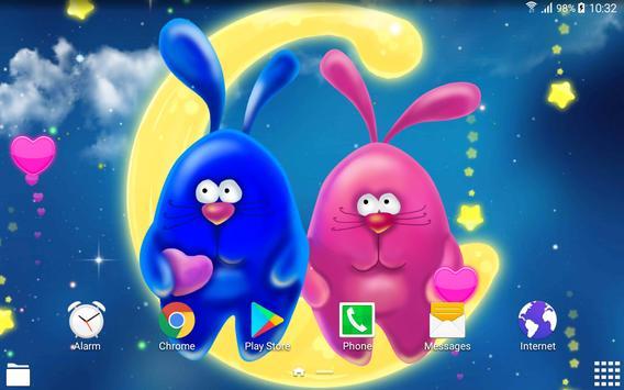 Bunnies Romantic Live Wallpaper apk screenshot