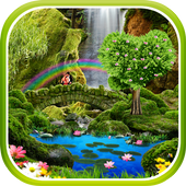 Waterfall Romantic Wallpaper icon