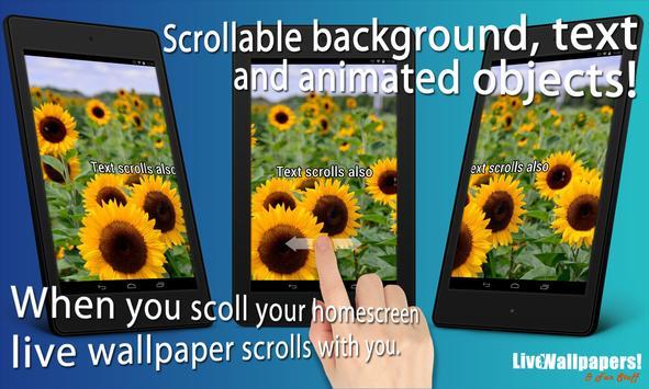 Sunflowers Live Wallpaper screenshot 4