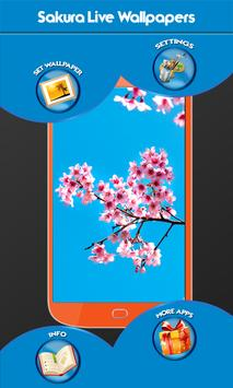 Sakura Live Wallpapers apk screenshot