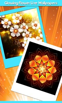 Glowing Flower Live Wallpapers poster