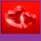 Diamond Hearts Live Wallpapers icon