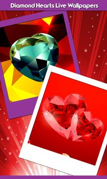Diamond Hearts Live Wallpapers poster
