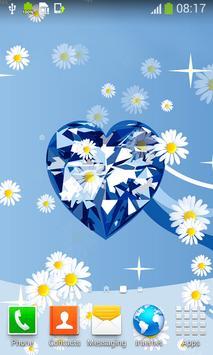 Diamond Hearts Live Wallpapers apk screenshot