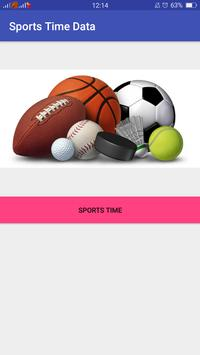 Sports Time Data poster