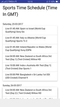 Sports Time Data screenshot 1
