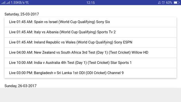 Sports Time Data screenshot 4