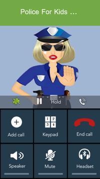 Fake Call - Kids Police screenshot 1