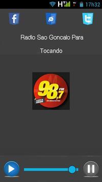 Radio 98 FM Sao Gonçalo Do Para-MG poster
