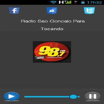 Radio 98 FM Sao Gonçalo Do Para-MG apk screenshot