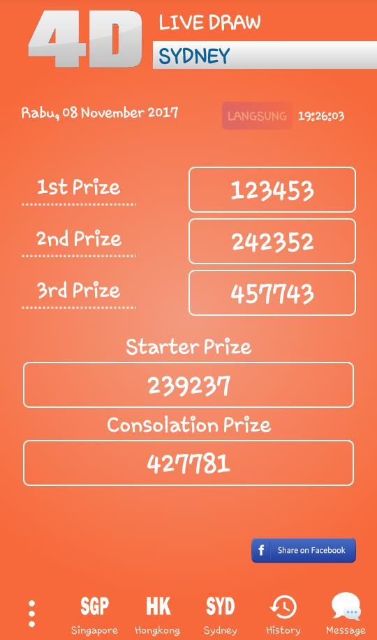 Live Draw Hongkong Singapura Sydney For Android Apk Download