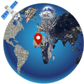 gps route tracker live earth map icon