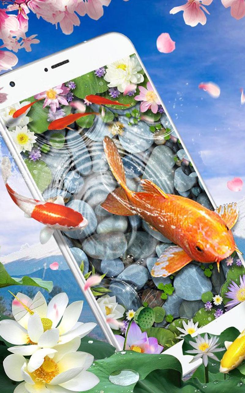 سمك حي ورق الجدران 3d حي كوي سمك خلفية For Android Apk