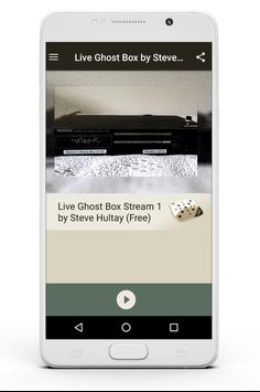 Live Ghost Box by Steve Hultay poster