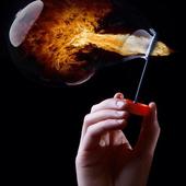 Fiery bubble LWP icon