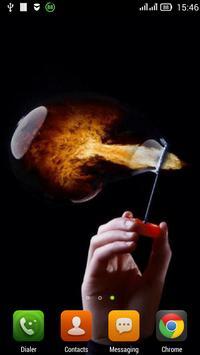 Fiery bubble LWP poster