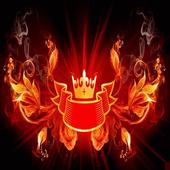 Fiery сrown LWP icon