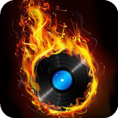 Fiery musical disc LWP icon