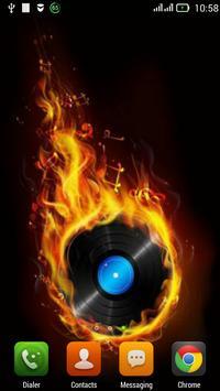 Fiery musical disc LWP apk screenshot