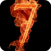 Seven on fire LWP icon