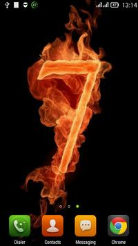 Seven on fire LWP poster