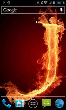 Fiery letter J live wallpaper apk screenshot
