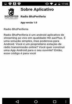 Rádio Bhz Periferia apk screenshot