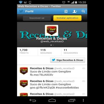 Web Receitas & Dicas screenshot 2