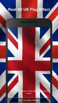 3D UK Flag Live Wallpaper apk screenshot