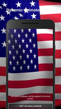 3D US Flag Live Wallpaper screenshot 1