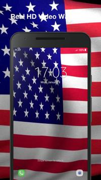 3D US Flag Live Wallpaper screenshot 4