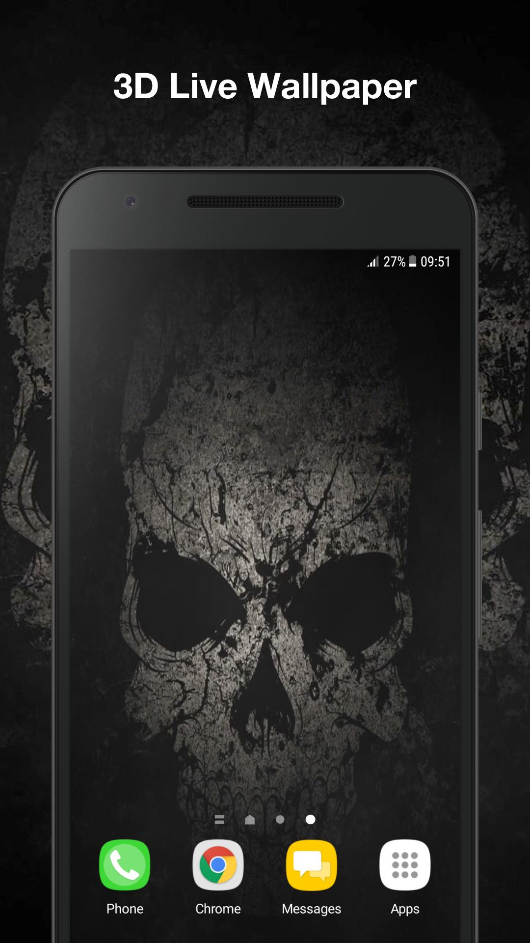 Black Skull Live Wallpaper poster ...