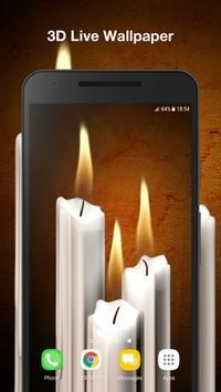 3D Candles Live Wallpaper poster