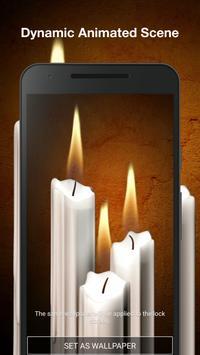3D Candles Live Wallpaper screenshot 1