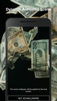 3D Falling Money Live Wallpaper screenshot 3