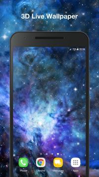Galaxy Parallax Live Wallpaper poster