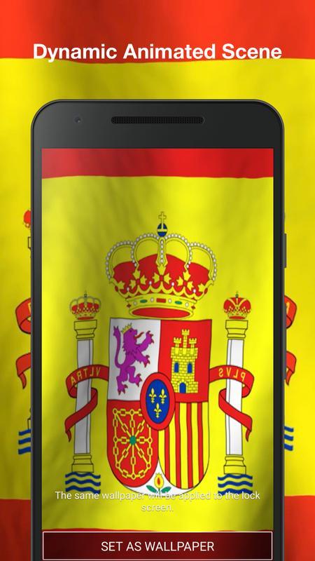 ... Bandera de España 3D Fondo de Pantalla Animado captura de pantalla 1 ... ae0a4228f63