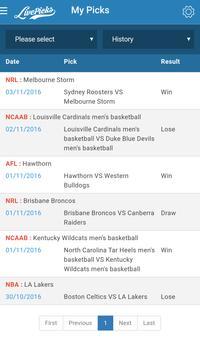 LivePicks - Live Picks AFL, NBA, NRL, WNBA, NCAAB poster