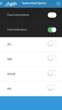 LivePicks - Live Picks AFL, NBA, NRL, WNBA, NCAAB apk screenshot