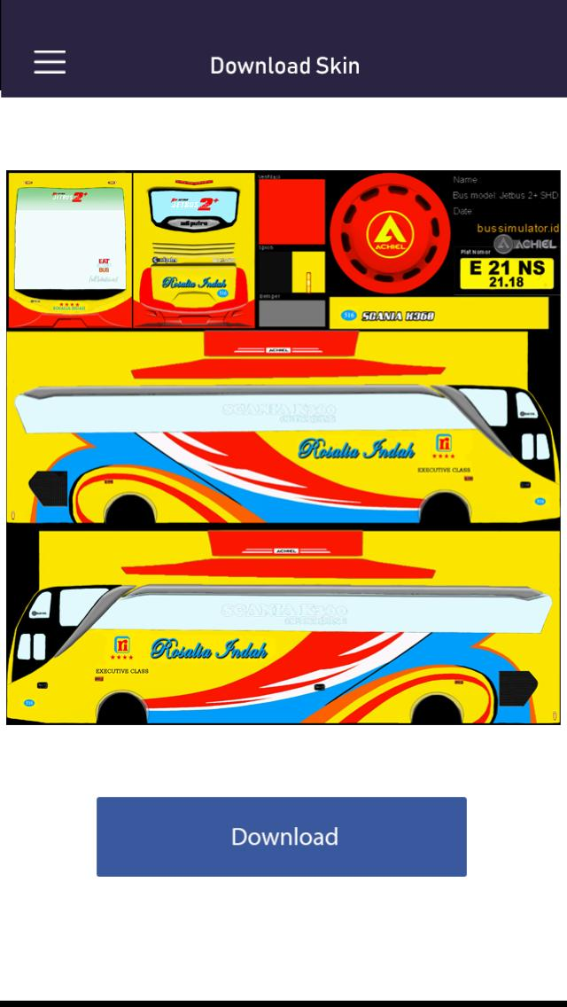 Livery Bussid Rosalia Indah For Android Apk Download