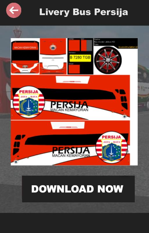 Livery Bussid Persija For Android Apk Download
