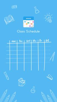 Class Schedule poster