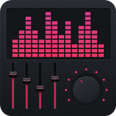 Stereo music equalizer icon