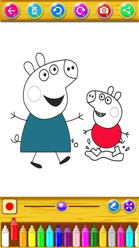 Libro de colorear para el Pepa pig Descarga APK - Gratis Educativos ...