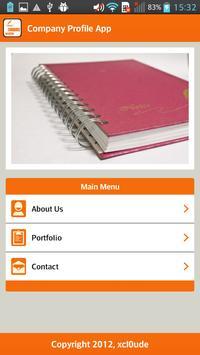 Company Profile Orange poster